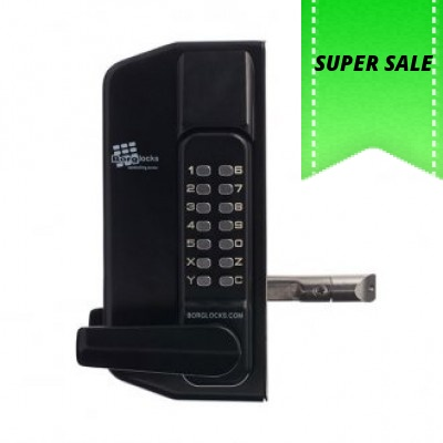BORG DIGITAL GATE LOCK 3430 LEVER HANDLE