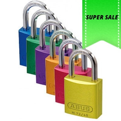 Abus 72/40 Auluminium coloured padlock