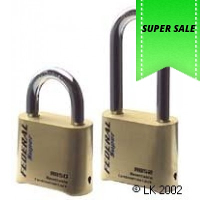 Federal Combination Brass Padlock